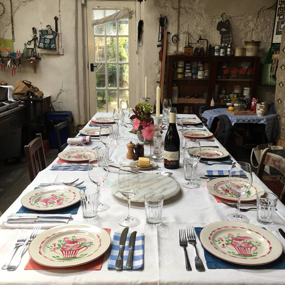 The dining table at Newton Walled Garden